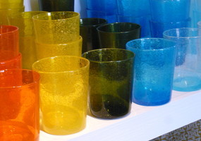 verre de  biot de couleurs
